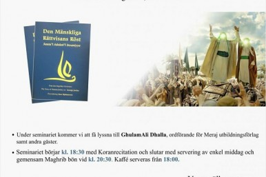 'Imam Ali (AS), Voice of Human Justice' Seminar Planned in Sweden